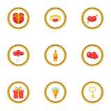 Giftware icons set, cartoon style. Giftware icons set. cartoon style set of 9 giftware vector icons for web design vector illustration