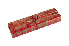 Giftwrapped present isolated Royalty Free Stock Images