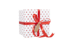 Giftwrapped present isolated Royalty Free Stock Image