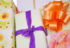 Giftwraps background Royalty Free Stock Image