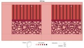 Giftzak met rode textuur Royalty-vrije Stock Foto's