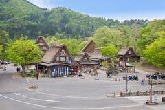 GIFU, ЯПОНИЯ - 10 Mayl, 2015: Shirakawago объявило место всемирного наследия ЮНЕСКО в 1995, Shirakawago известно для их традицион стоковые изображения rf