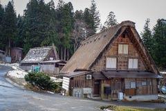 Shirakawago Historic Village in Gifu, Japan. Gifu, Japan - Dec 29, 2015. Houses at Historic Village of Shirakawago in Gifu, Japan. Shirakawago has over 100 Royalty Free Stock Photography