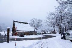 Shirakawago, world heritage village, the tourist destination Royalty Free Stock Photography