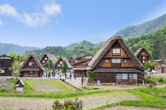 GIFU,JAPAN - 10 Mayl,2015 : Shirakawago Declared a UNESCO world heritage site in 1995, Shirakawago is famous for their traditional Stock Photography