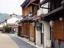 Historic Kawaramachi street in Gifu city, Japan Royalty Free Stock Images