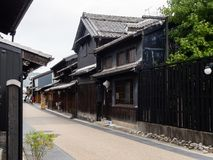 Historic Kawaramachi street in Gifu city, Japan Stock Image