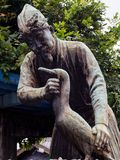 Statue of cormorant fisherman in Gifu, Japan Stock Photos