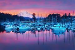 Free Gig Harbor Mt.Rainier Early Morning Sunrise Stock Photos - 221324243