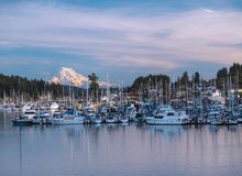 Gig Harbor, WA USA _ January, 20 2015. Gig Harbor is a popular tourism attraction on Puget Sound. Gig Harbor is a popular tourism attraction on Puget Sound stock image
