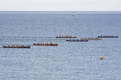 Gig Racing off Falmouth UK Stock Image