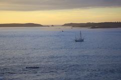 Gig rowers at St Mary's, Isles of Scilly, England Stock Photography