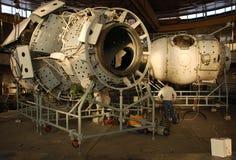 Giga do segmento do russo da estação espacial internacional fotos de stock