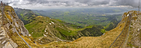 Giga panoramic view from Stockhorn Royalty Free Stock Images