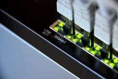 gigabit ethernet σύνδεση στοκ εικόνα με δικαίωμα ελεύθερης χρήσης