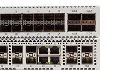 Gigabit Ethernet switch with SFP slot Stock Photo
