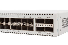 Gigabit Ethernet switch with SFP slot Royalty Free Stock Photos