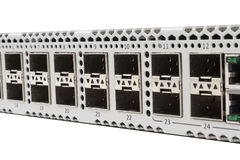 Gigabit Ethernet switch with SFP slot Royalty Free Stock Image