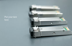 Gigabit SFP modules Stock Image