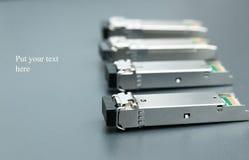 Gigabit SFP modules. Gigabit SFP module for network switch Stock Image