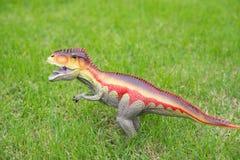 Giganotosaurus toy on grass Stock Photos