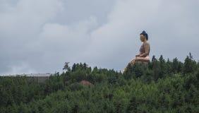 Gigant Buddha Dordenma w Thimphu, Bhutan kapitał na górze zdjęcia royalty free