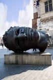 Gigant głowy rzeźba Eros Bendato w Krakow w Polska Obrazy Stock