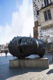 Gigant głowy rzeźba Eros Bendato w Krakow w Polska Fotografia Royalty Free