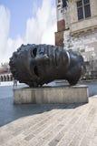 Gigant głowy rzeźba Eros Bendato w Krakow w Polska Obraz Royalty Free