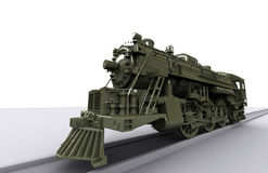 Gigant Old Train. Old New Gigant Train 3D model Stock Image
