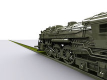 Gigant Old Train. Old New Gigant Train 3D model Stock Photography