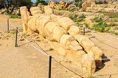 Gigant Telemon, Agrigento - Zdjęcie Stock