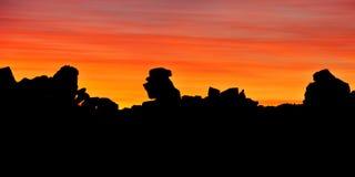Giganta boisko przy zmierzchem, Keetmanshoop, Namibia, Afryka Obrazy Royalty Free