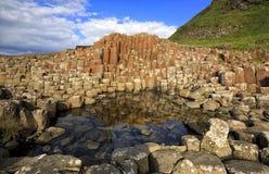 Giganta droga na grobli, Co Antrim, Północny - Ireland Fotografia Royalty Free