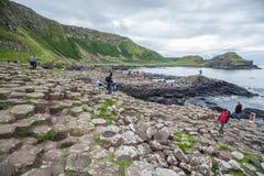 Giganta droga na grobli powulkaniczne formacje Zdjęcie Stock