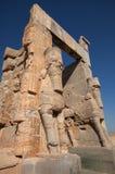 Giganta Lamassu statuy Chroni Wejściową bramę Wszystkie narody w Persepolis Obrazy Stock