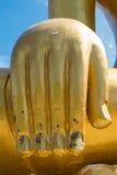 Giganta palec złota Buddha statua Zdjęcie Royalty Free