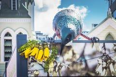 Giganta Tui rzeźba w Wellington, Nowa Zelandia Obrazy Royalty Free
