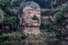 Gigante Buddha di Leshan in provincia del Sichuan in Cina Fotografia Stock