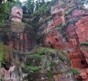 Gigante Buddha di Leshan in provincia del Sichuan in Cina Immagini Stock Libere da Diritti