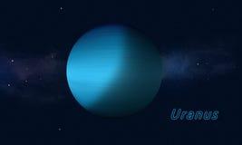Gigante de gas Urano ilustración del vector
