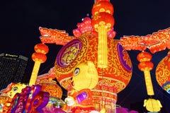 Gigante de rogación de la linterna del festival de primavera de la flor bed-2018 Foto de archivo