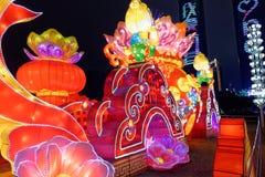 Gigante de rogación de la linterna del festival de primavera de la flor bed-2018 Imágenes de archivo libres de regalías