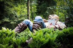 Gigante del cuento de hadas de Tom Thumb, parque temático De Efteling en los Países Bajos fotografía de archivo