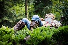 Gigante do conto de fadas de Tom Thumb, parque temático De Efteling nos Países Baixos fotografia de stock