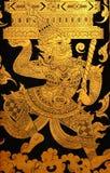 Gigante en la pintura tailandesa tradicional del arte del estilo fotografía de archivo