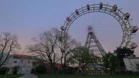 Gigante Ferris Wheel a Vienna, Austria stock footage