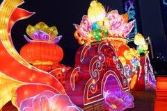 Gigante local da lanterna do festival de mola pattern-2018 fotos de stock royalty free