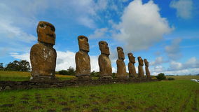 Gigante Moai dell'isola di pasqua Immagine Stock Libera da Diritti
