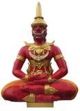 Gigante rojo antiguo en la sentada de la meditación Imagen de archivo